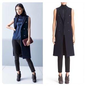 rag & bone Faye' Longline Wool Blend Vest